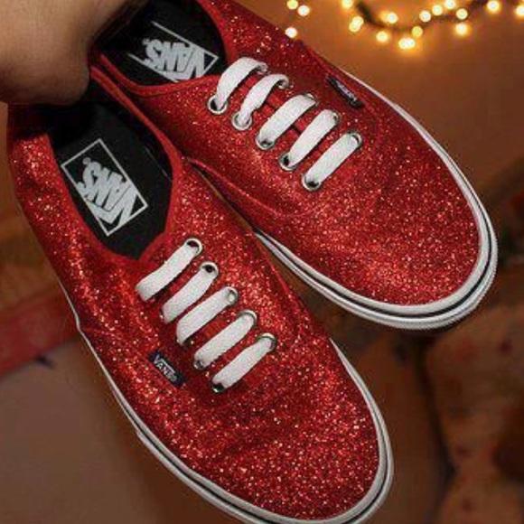 ad1a38c8f69a Sparkly Red Vans. M_5b493e6003087c593df206b5